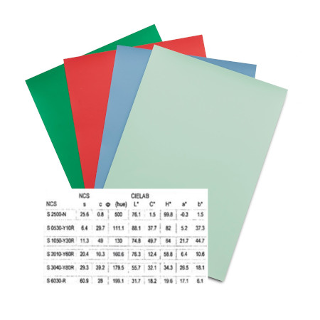 NCS A6 Colour Samples certificato